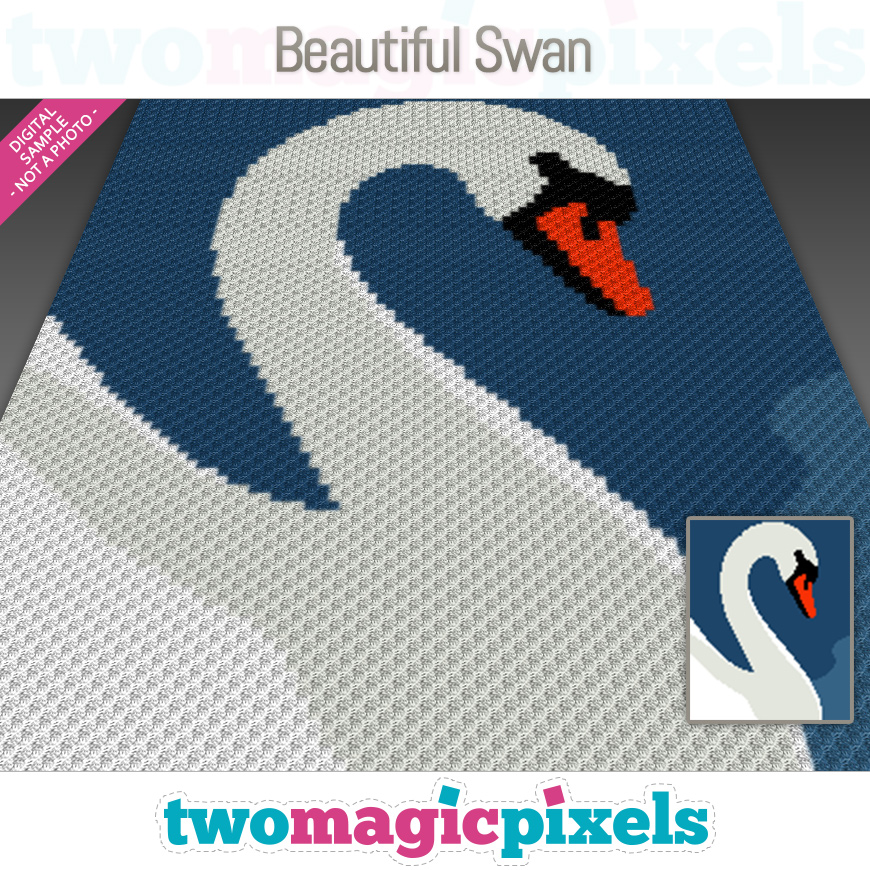 Beautiful Swan by Two Magic Pixels
