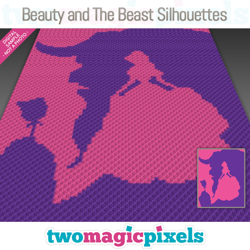 Beauty and The Beast Silhouettes by Two Magic Pixels