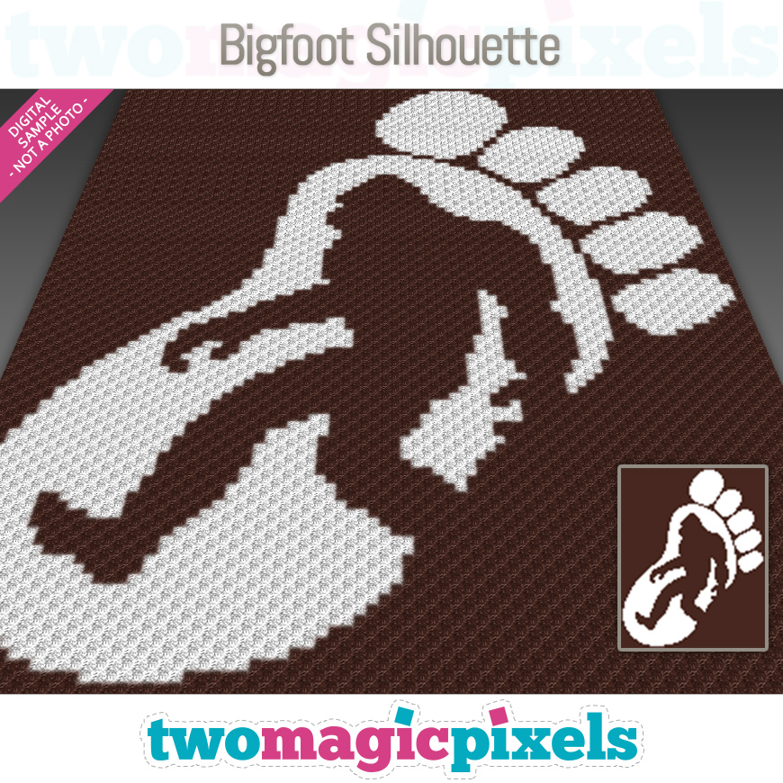 Bigfoot Silhouette by Two Magic Pixels