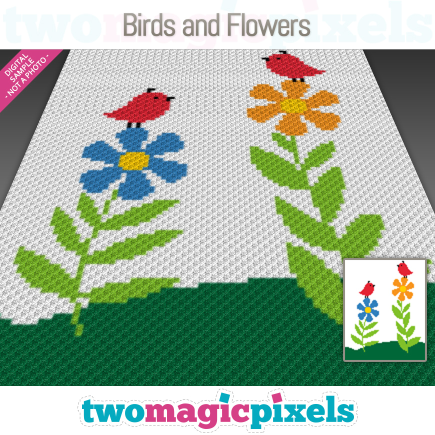 Birds and Flowers by Two Magic Pixels