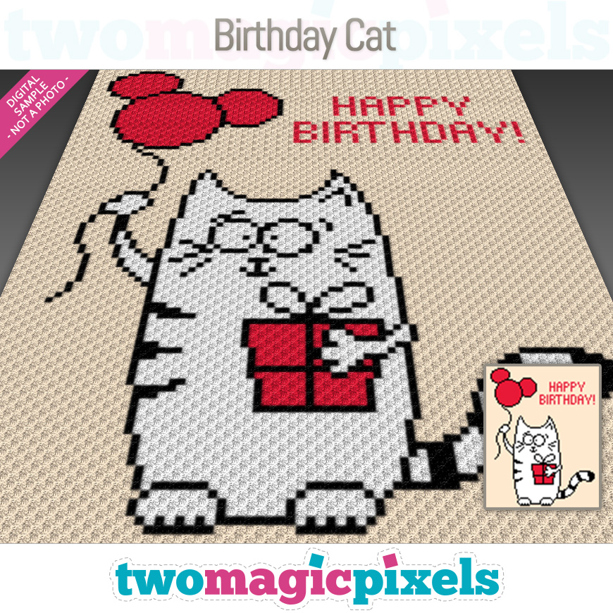 Birthday Cat by Two Magic Pixels