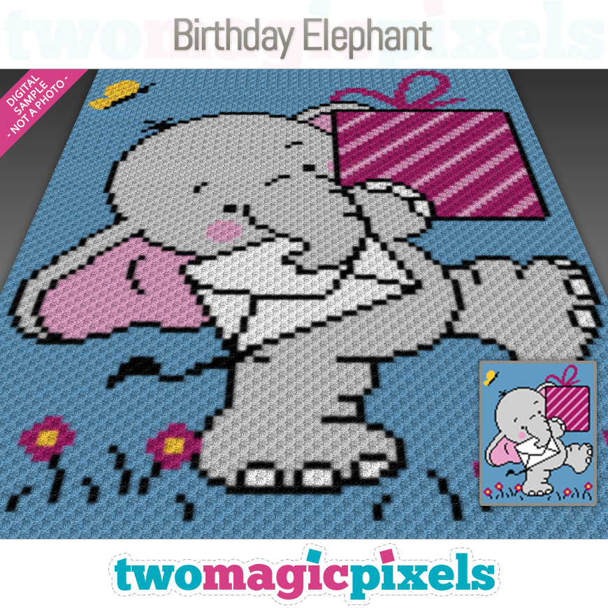 Birthday Elephant by Two Magic Pixels