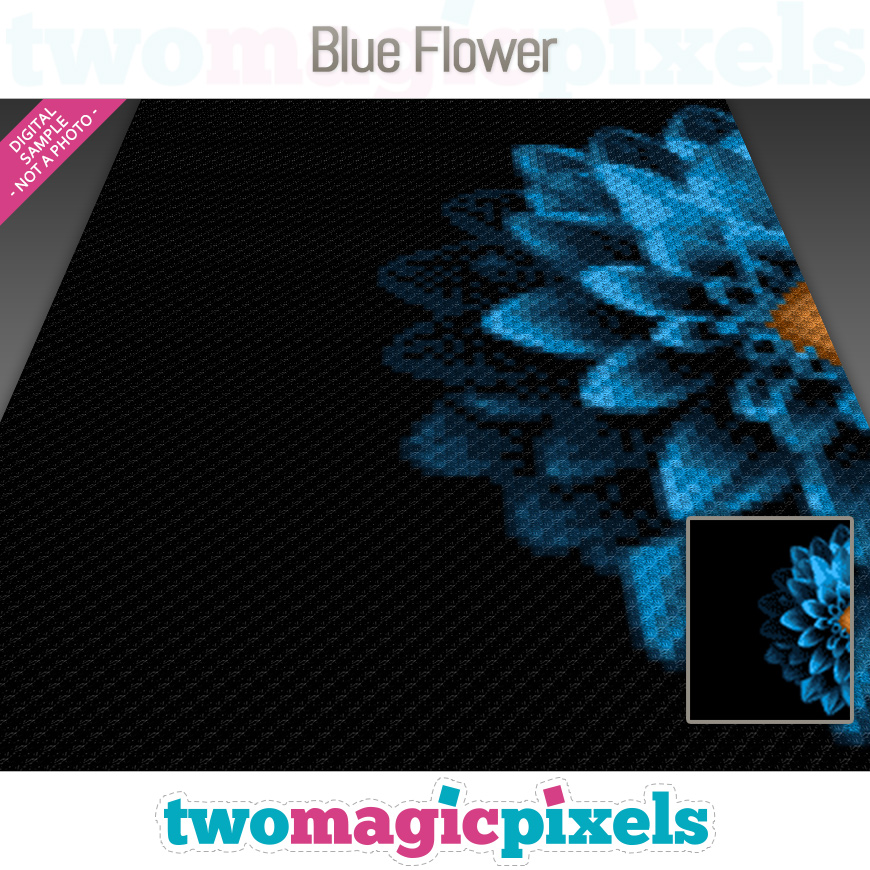 Blue Flower by Two Magic Pixels