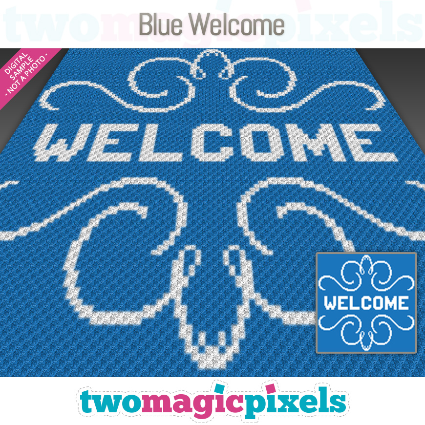 Blue Welcome by Two Magic Pixels