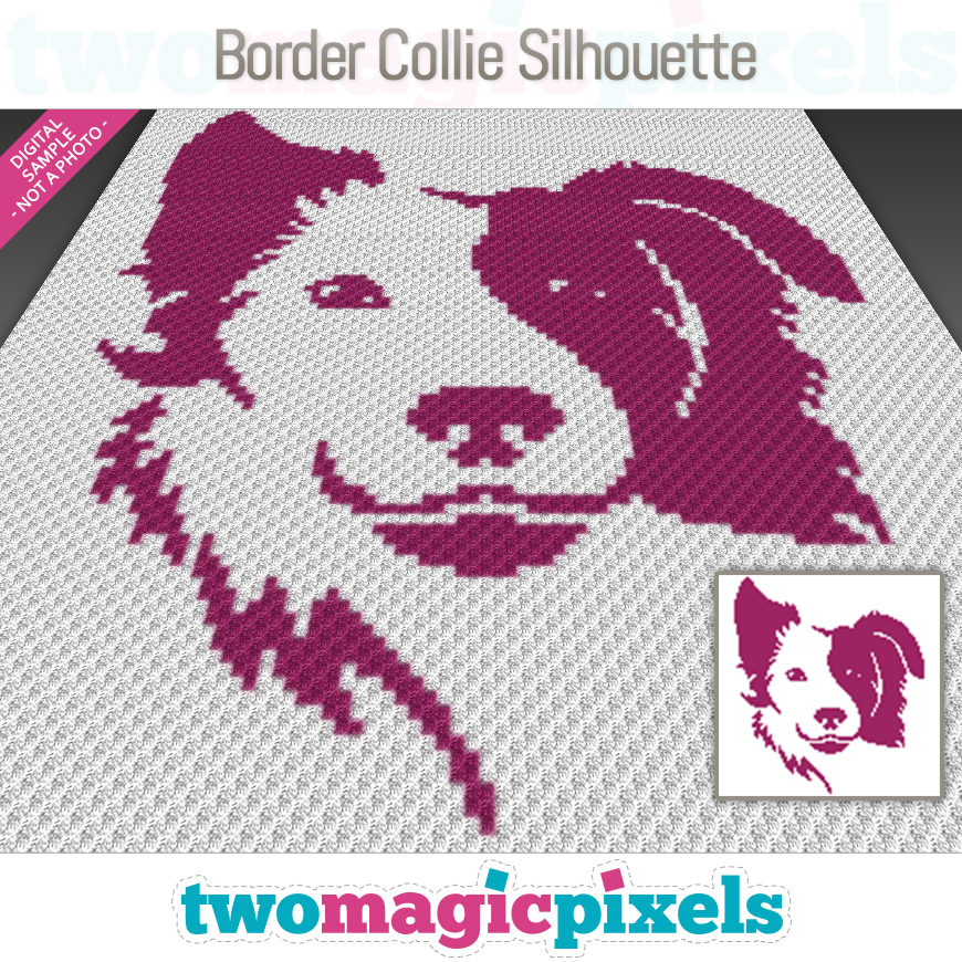 Border Collie Silhouette by Two Magic Pixels
