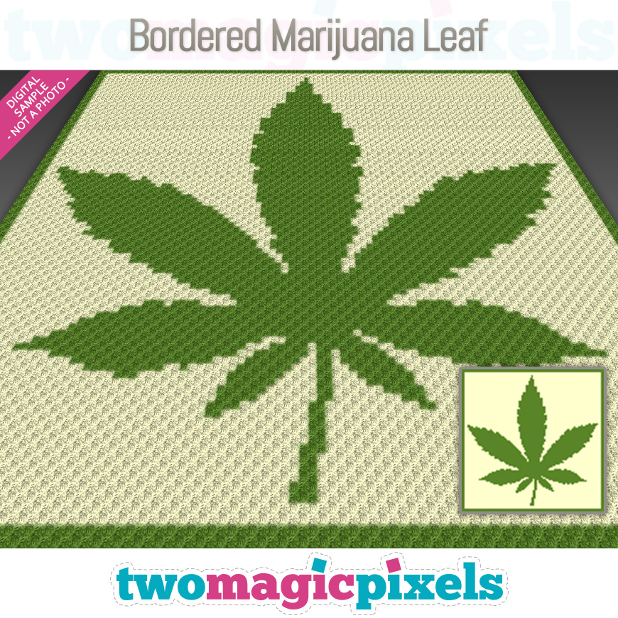 Bordered Marijuana Leaf by Two Magic Pixels