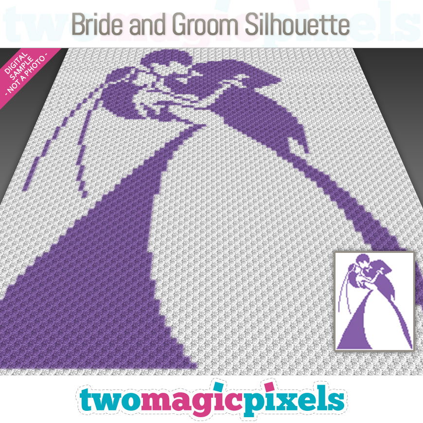 Bride and Groom Silhouette by Two Magic Pixels