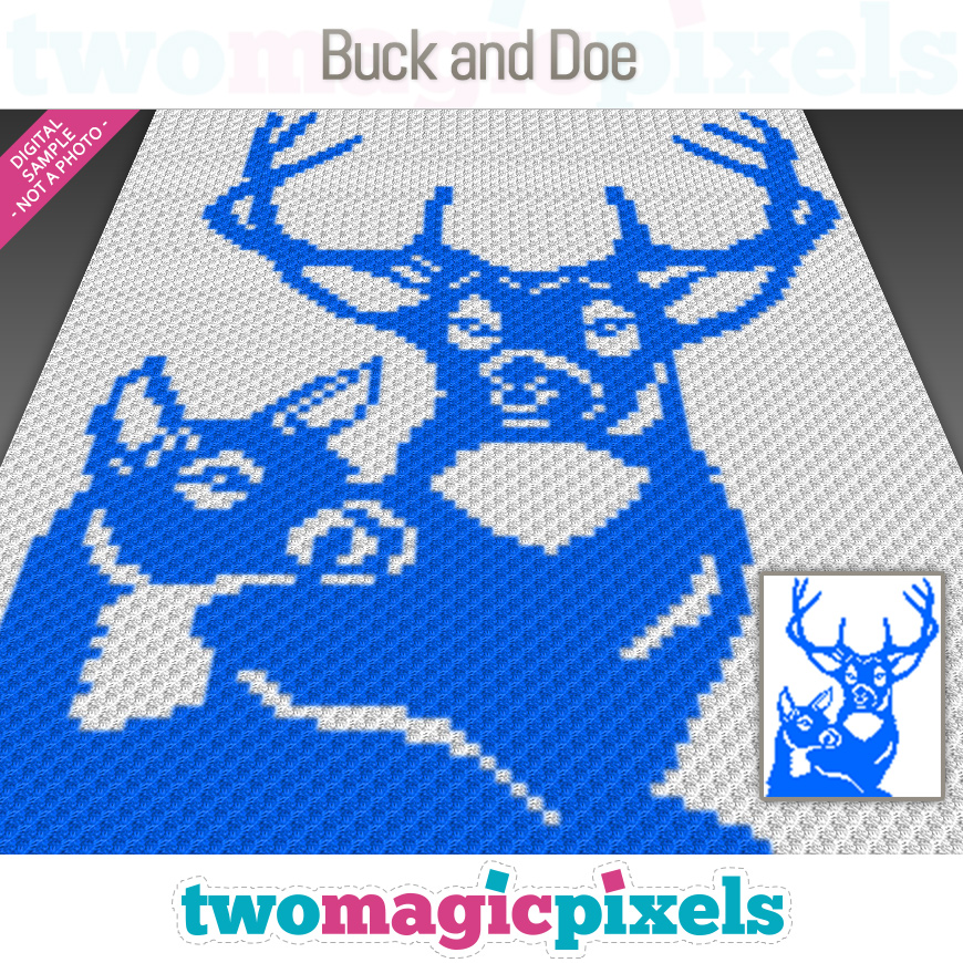 Buck and Doe by Two Magic Pixels