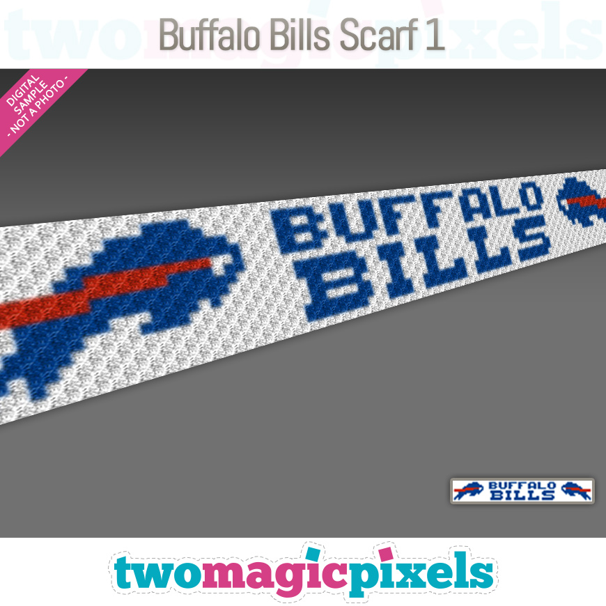 Buffalo Bills Scarf 1 by Two Magic Pixels