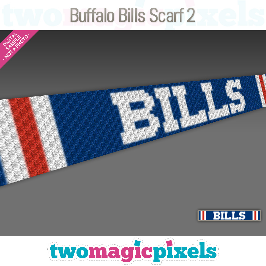 Buffalo Bills Scarf 2 by Two Magic Pixels