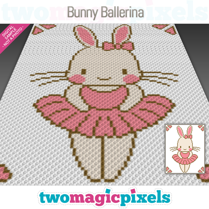 Bunny Ballerina by Two Magic Pixels