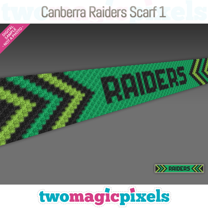 Canberra Raiders Scarf 1 by Two Magic Pixels