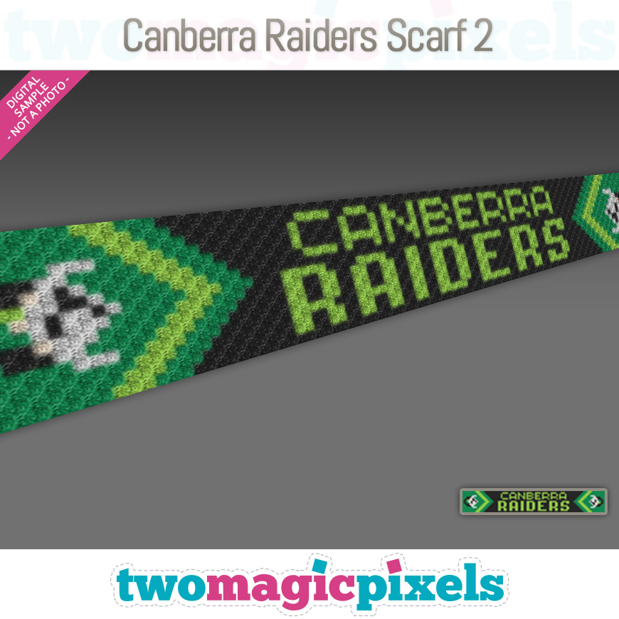 Canberra Raiders Scarf 2 by Two Magic Pixels