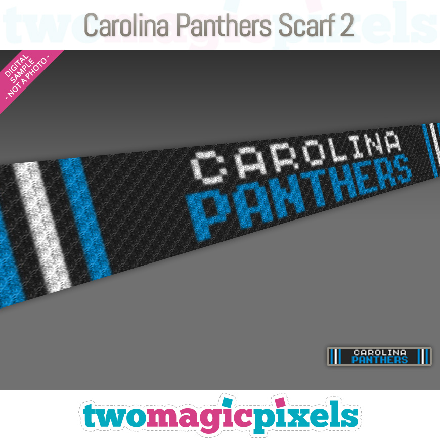 Carolina Panthers Scarf 2 by Two Magic Pixels