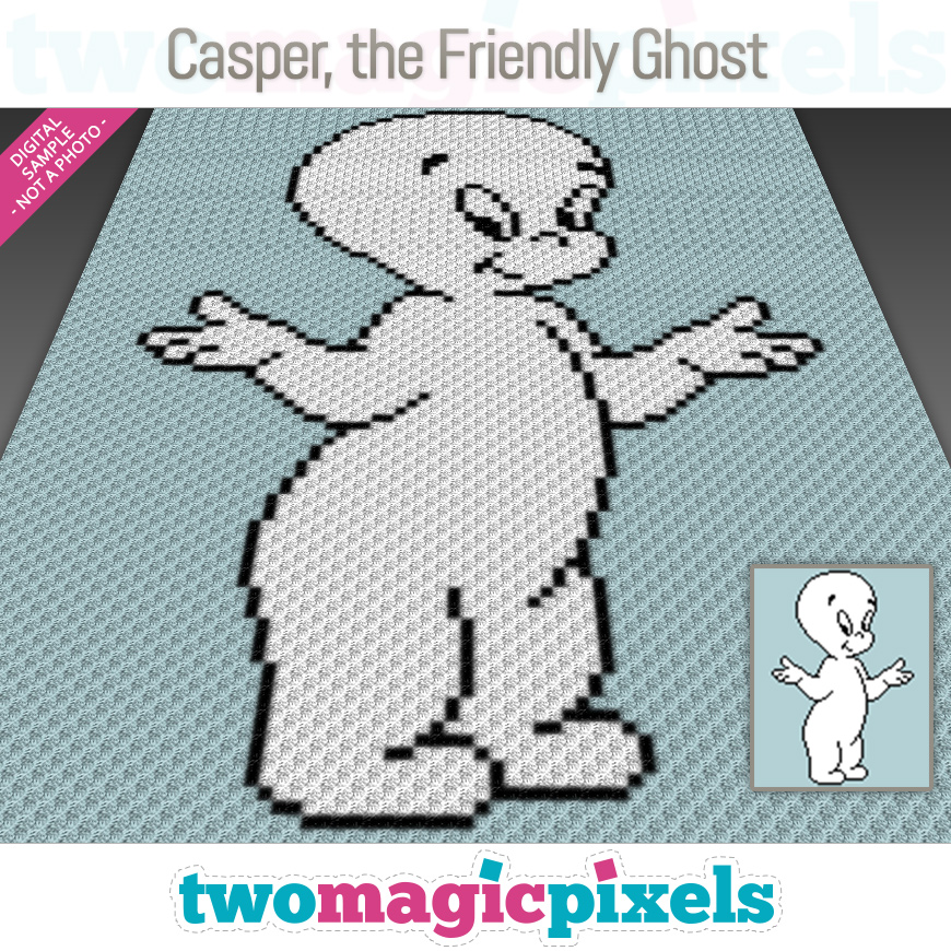 Casper, the Friendly Ghost by Two Magic Pixels