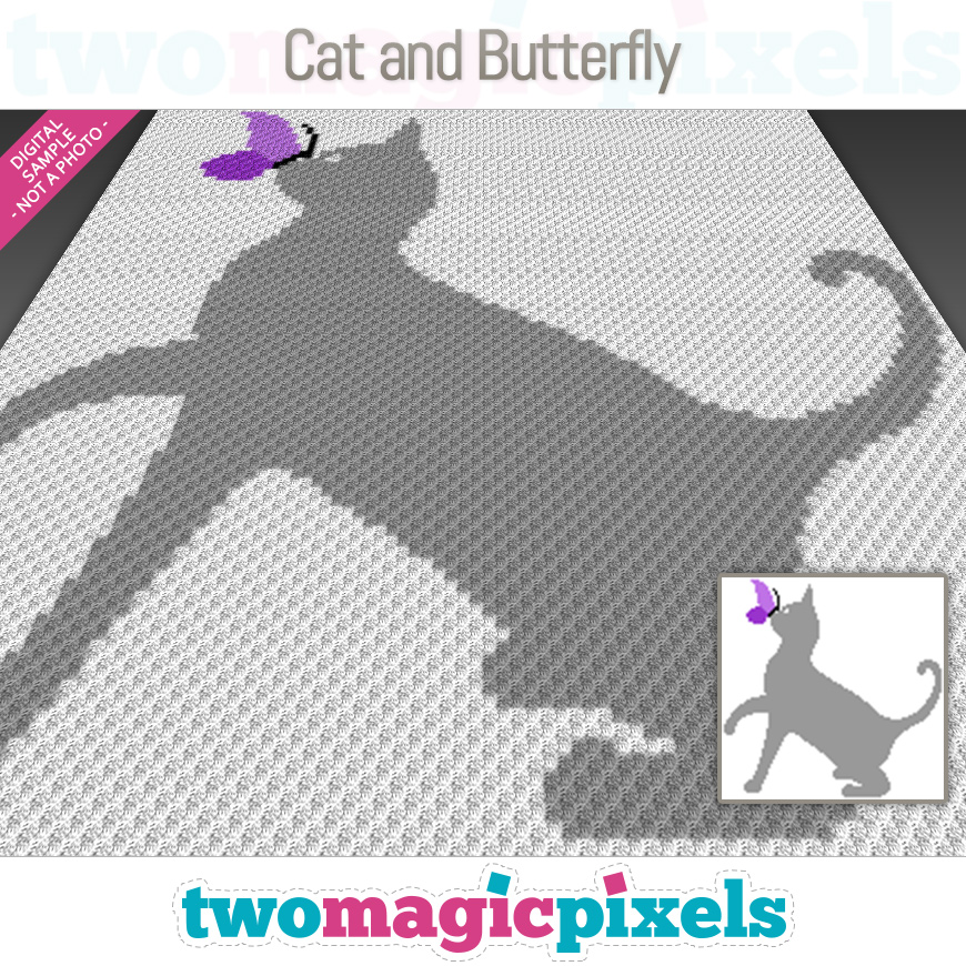 Cat and Butterfly by Two Magic Pixels