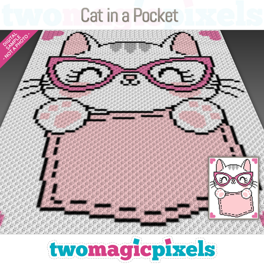 Cat in a Pocket by Two Magic Pixels
