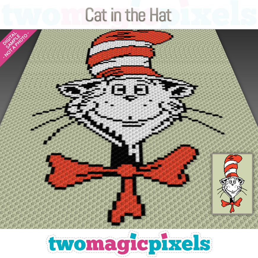 Cat in the Hat by Two Magic Pixels