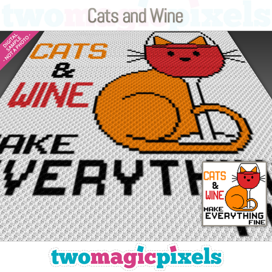 Cats and Wine by Two Magic Pixels