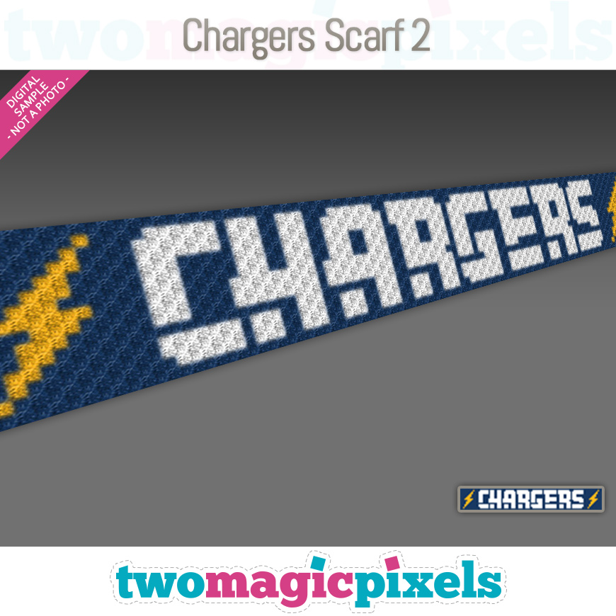 Chargers Scarf 2 by Two Magic Pixels