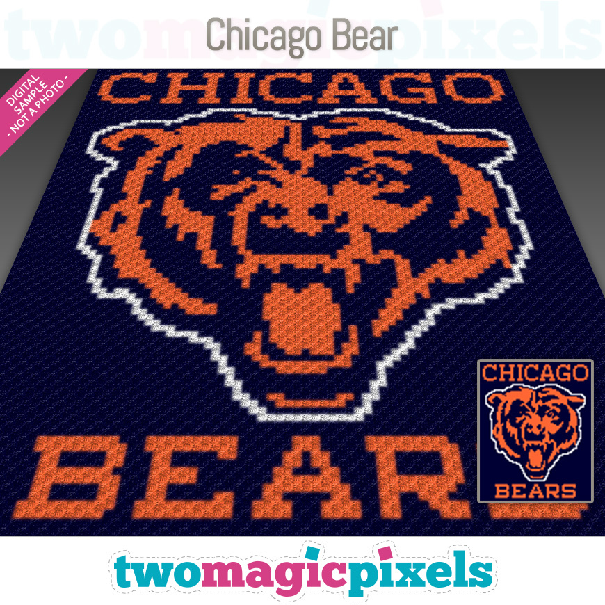 Chicago Bear by Two Magic Pixels