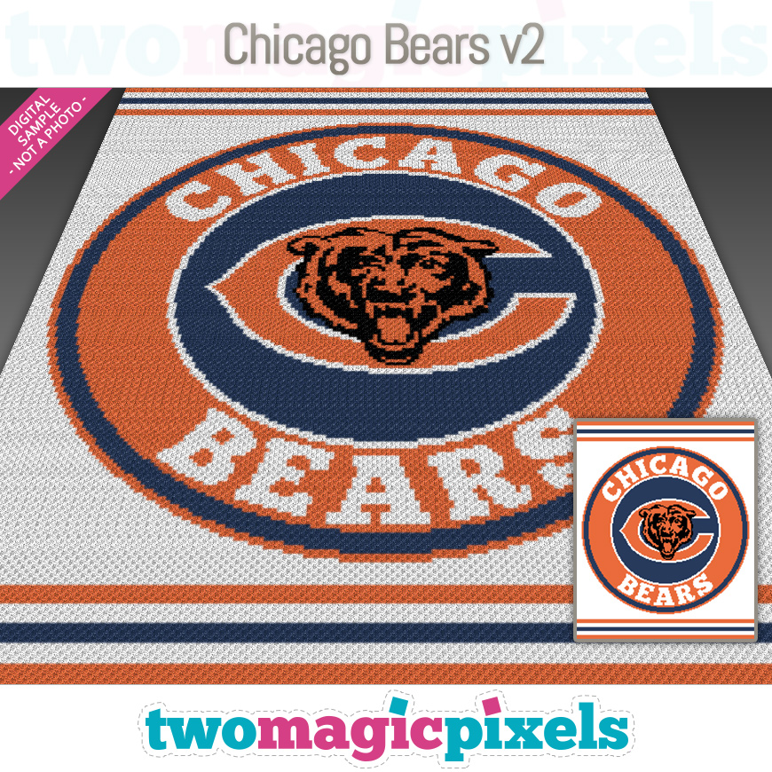 Chicago Bears v2 by Two Magic Pixels