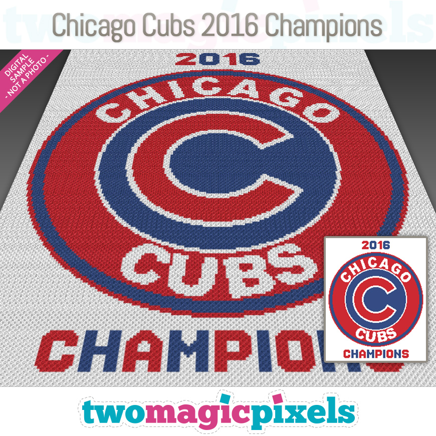 Chicago Cubs 2016 Champions by Two Magic Pixels