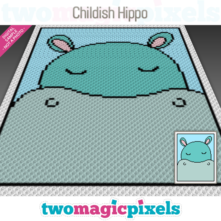 Childish Hippo by Two Magic Pixels