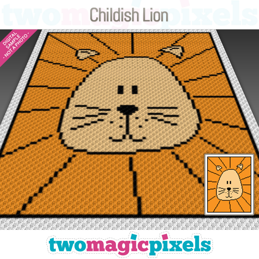 Childish Lion by Two Magic Pixels