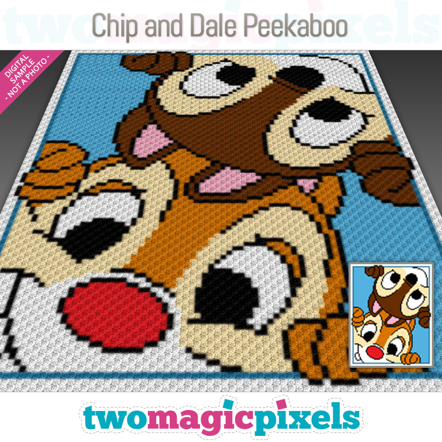 Chip and Dale Peekaboo by Two Magic Pixels