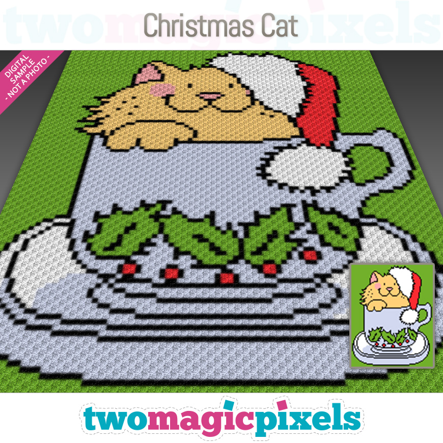 Christmas Cat by Two Magic Pixels