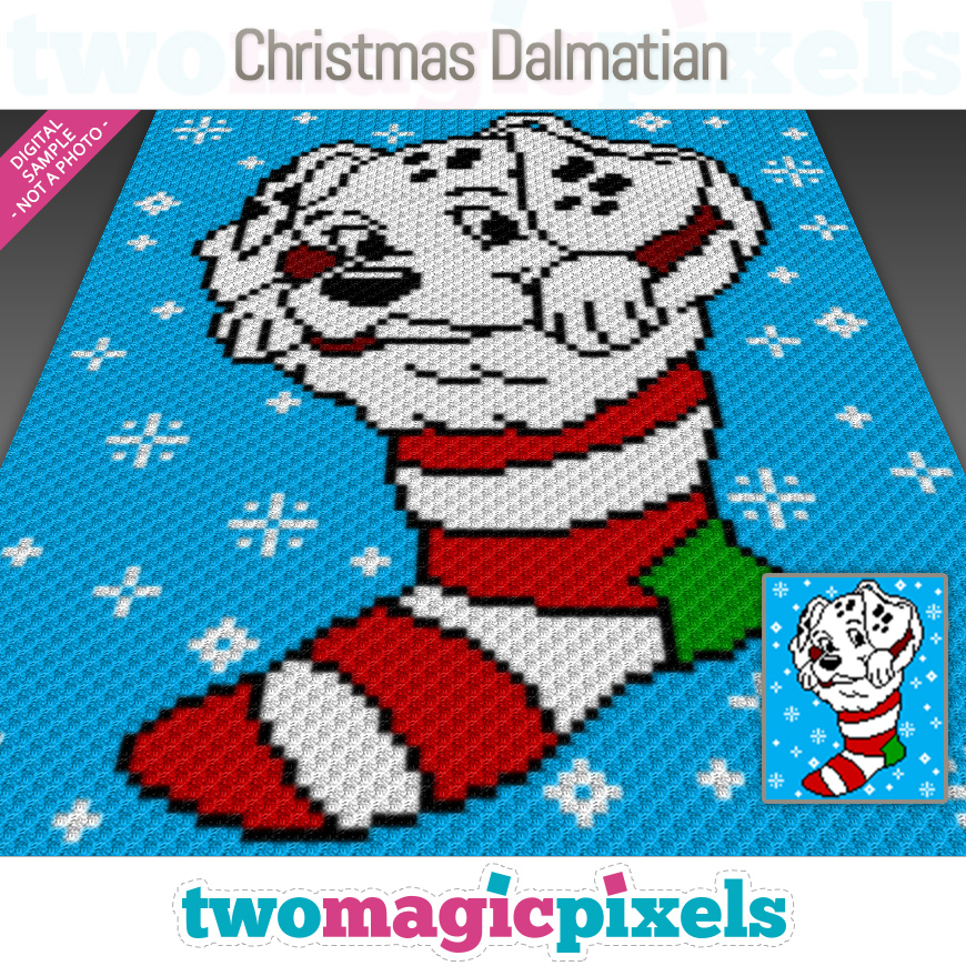 Christmas Dalmatian by Two Magic Pixels