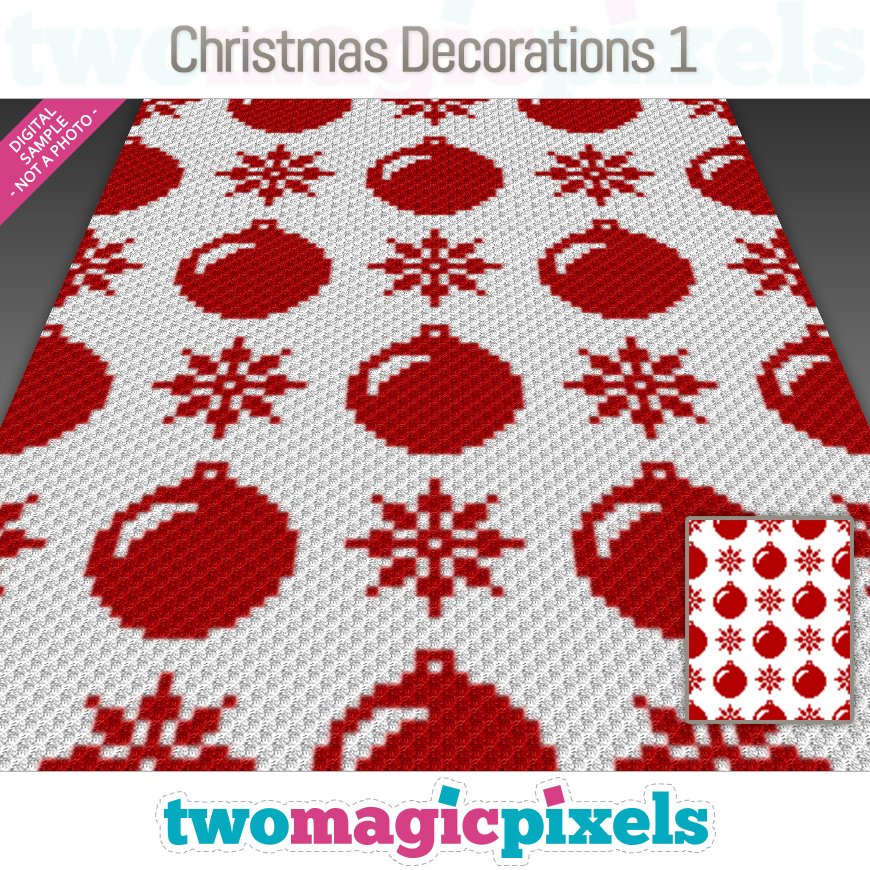 Christmas Decorations 1 by Two Magic Pixels
