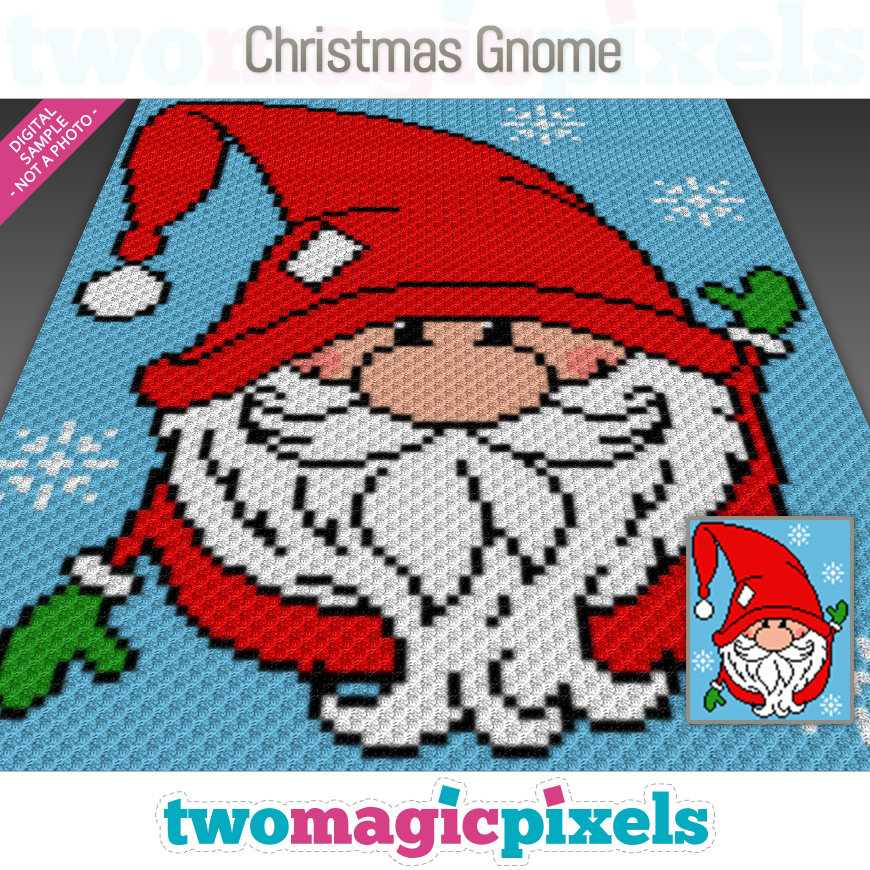 Christmas Gnome by Two Magic Pixels