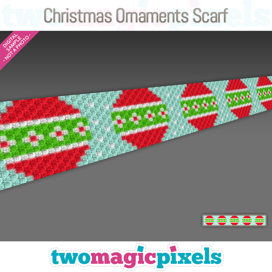 Christmas Ornaments Scarf by Two Magic Pixels