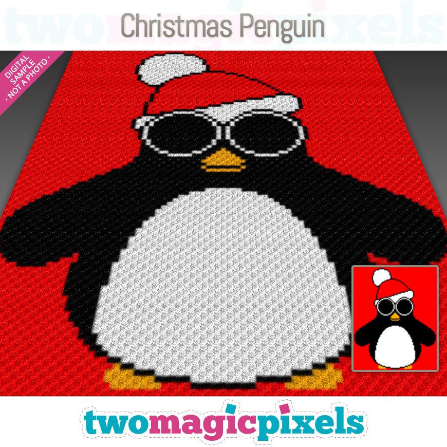 Christmas Penguin by Two Magic Pixels