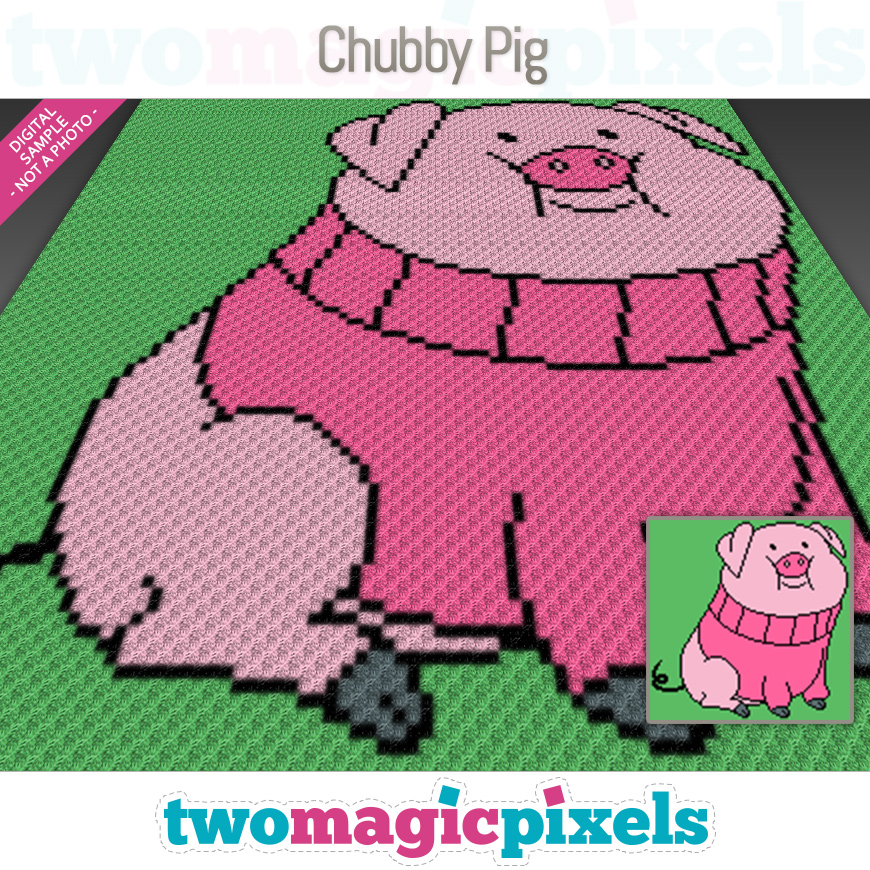 Chubby Pig by Two Magic Pixels