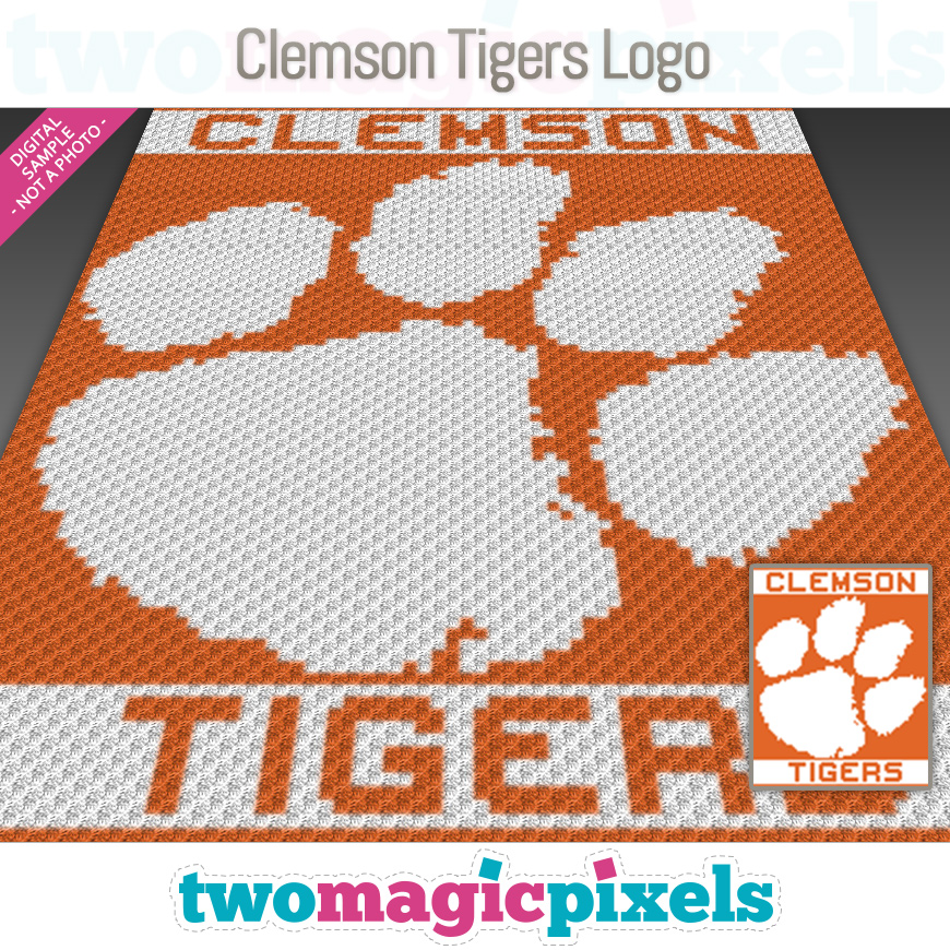 Clemson Tigers Logo by Two Magic Pixels