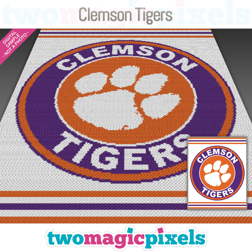 Clemson Tigers by Two Magic Pixels