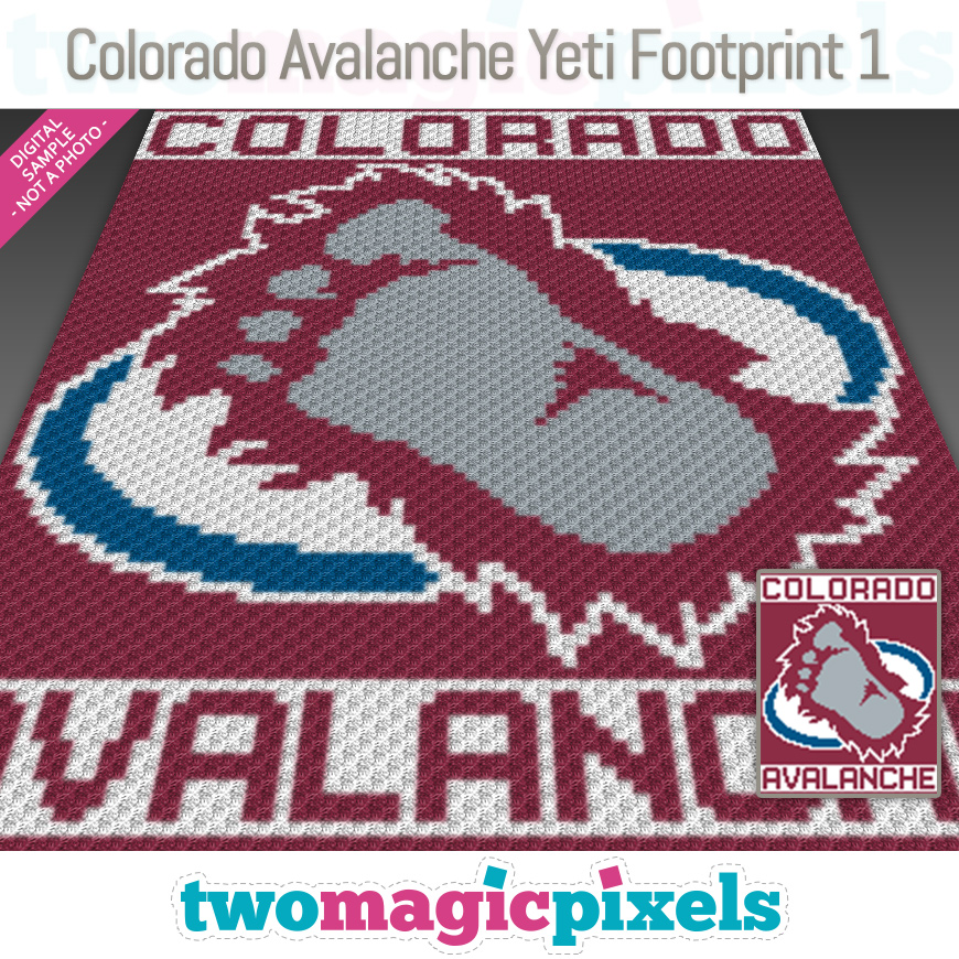 Colorado Avalanche Yeti Footprint 1 by Two Magic Pixels