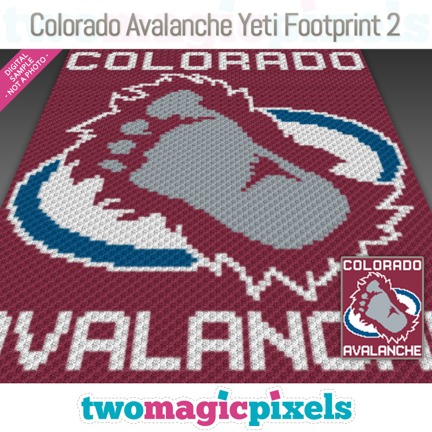Colorado Avalanche Yeti Footprint 2 by Two Magic Pixels
