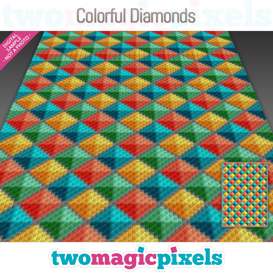 Colorful Diamonds by Two Magic Pixels