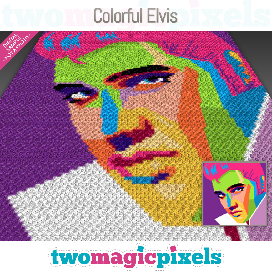 Colorful Elvis by Two Magic Pixels