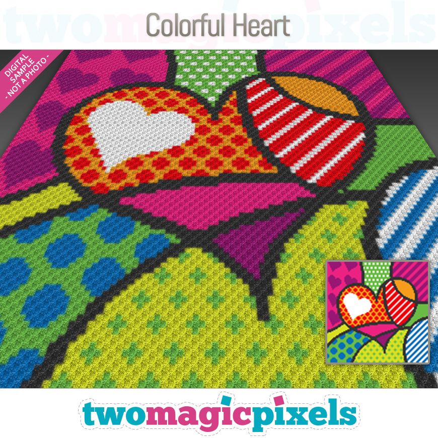 Colorful Heart by Two Magic Pixels