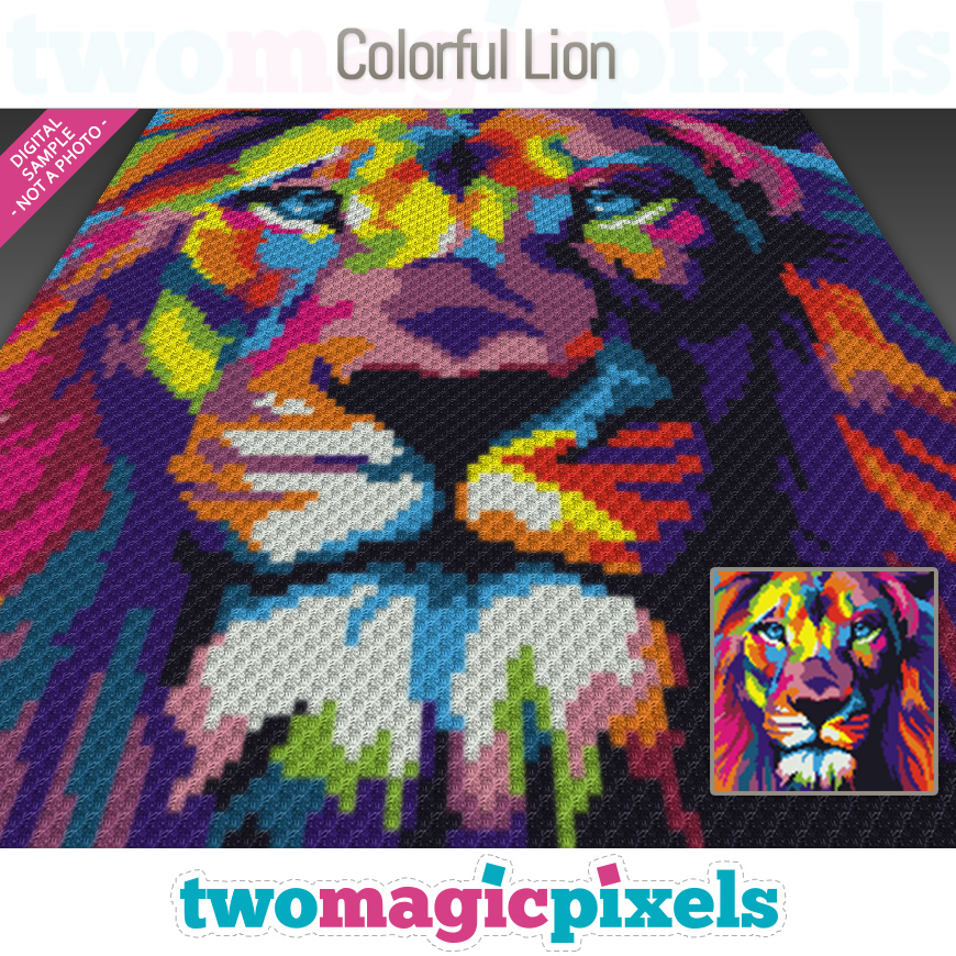 Colorful Lion by Two Magic Pixels