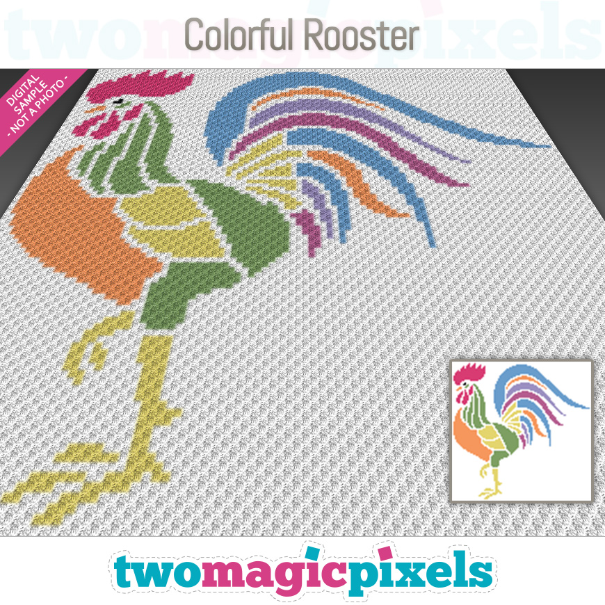 Colorful Rooster by Two Magic Pixels
