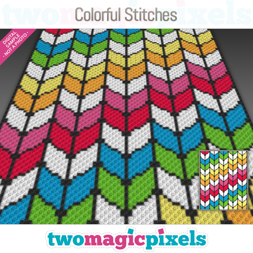 Colorful Stitches by Two Magic Pixels