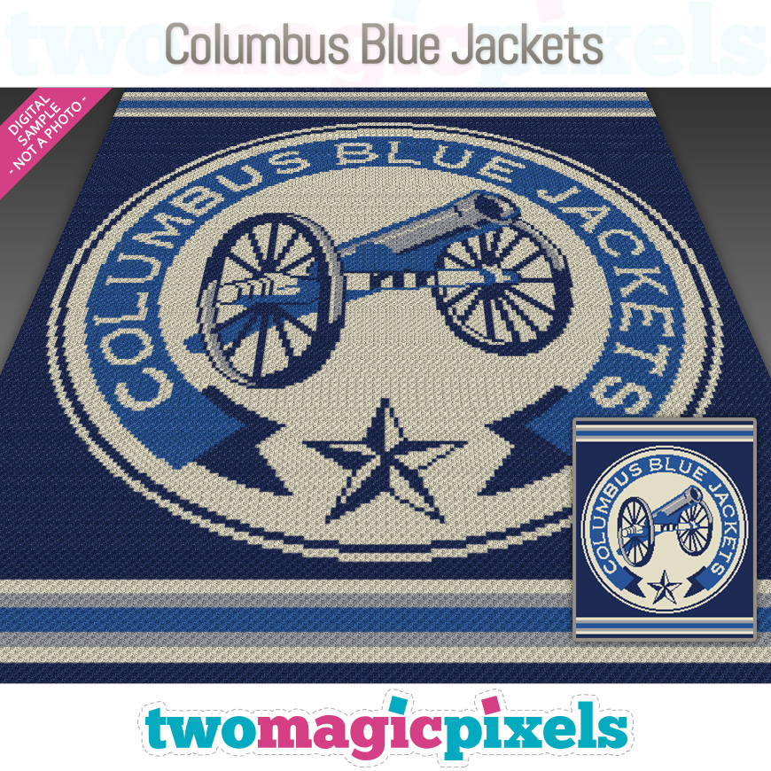 Columbus Blue Jackets by Two Magic Pixels