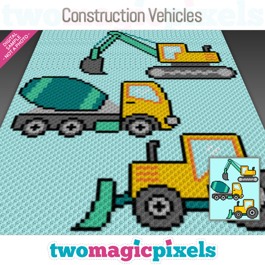 Construction Vehicles by Two Magic Pixels