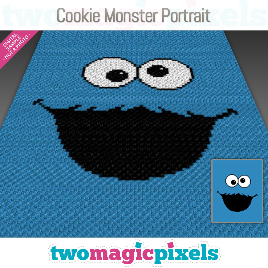 Cookie Monster Portrait by Two Magic Pixels